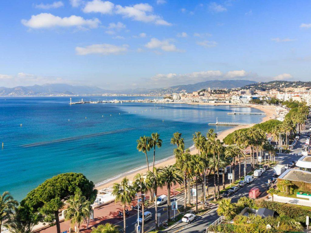 Vue de la croisette à Cannes