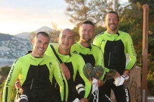 Les quatre pionniers de l'Ultraswimrun